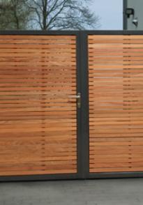 Portails et portes résidentiels en bois et métal