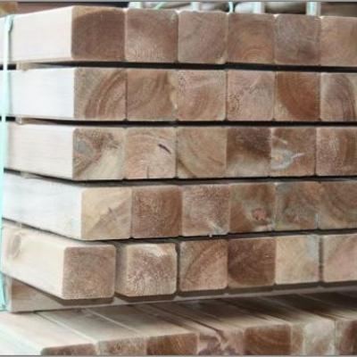 Poteaux carrés en bois impregné