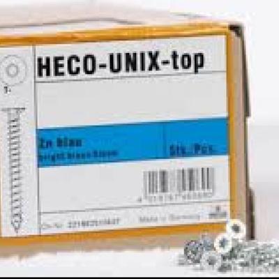 Vis Heco Unix Top zingué + torx