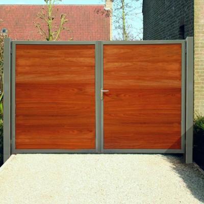Portails et portes résidentiels en bois + métal