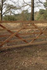 Engelse poort 3 in lariks 110 x 100 cm