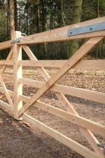 Engelse poort 3 in lariks 110 x 400 cm - Dubbele poort