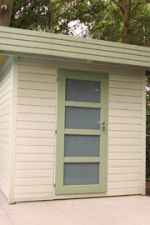 Vierkante paal 95 x 95 x 2100 mm + 3 gaten - Hoekpaal