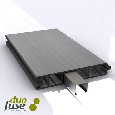 Rabatplank in houtcomposiet 27 x 150 x 1800 mm - Stone grey