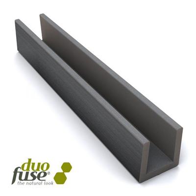 U-profiel in houtcomposiet 27 x 35 x 1820 mm - Graphit black
