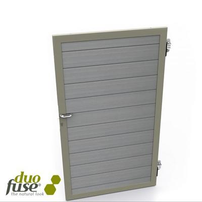 Deur in houtcomposiet 180 x 100 cm - Stone grey