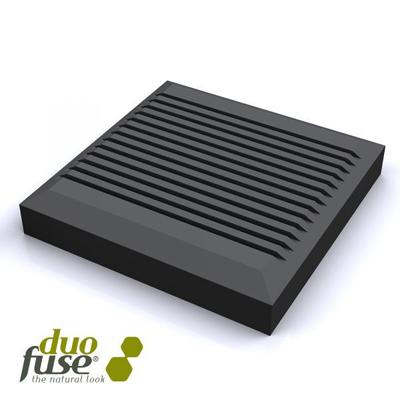 Palenkap in houtcomposiet 9 x 9 cm - Graphit black