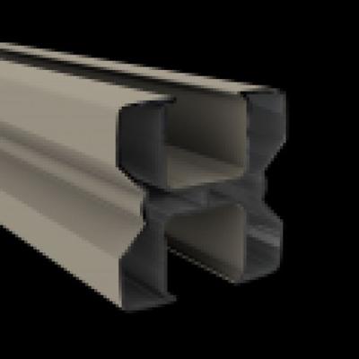 Aluminium paal 82 x 82 x 3000 mm - RAL7021