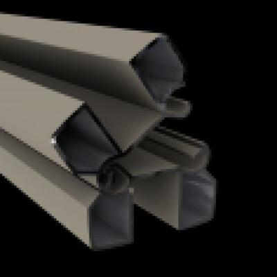 Aluminium scharnierpaal 82 x 82 x 3000 mm - RAL7021