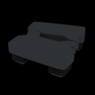 Palenkap voor aluminium scharnierpaal - RAL7021