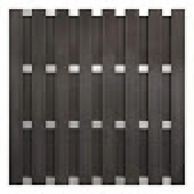 Panama scherm in houtcomposiet 180 x 180 cm - Antraciet