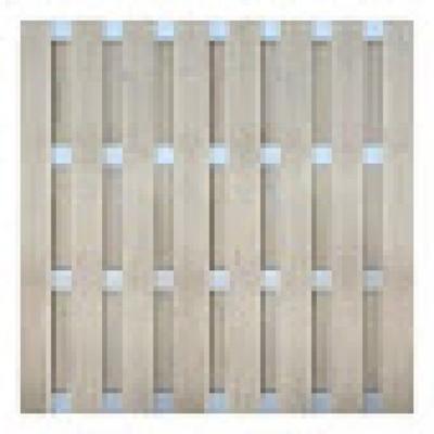 Panama scherm in houtcomposiet 180 x 180 cm - Bi-color wit