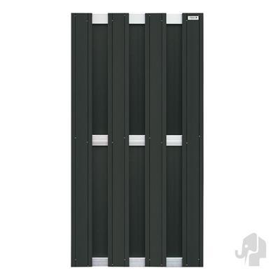 Panama scherm in houtcomposiet 180 x 90 cm - Antraciet