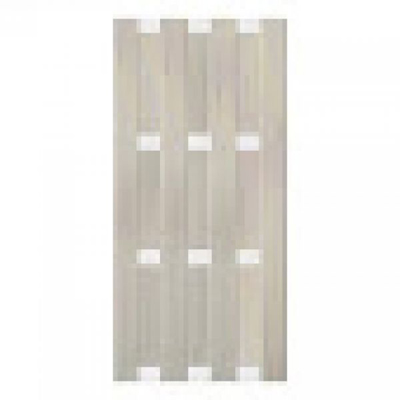 Panama scherm in houtcomposiet 180 x 90 cm - Bi-color wit