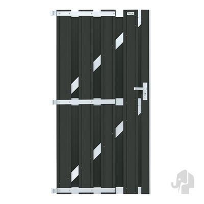 Panama linkse deur in houtcomposiet 180 x 100 cm - Antraciet