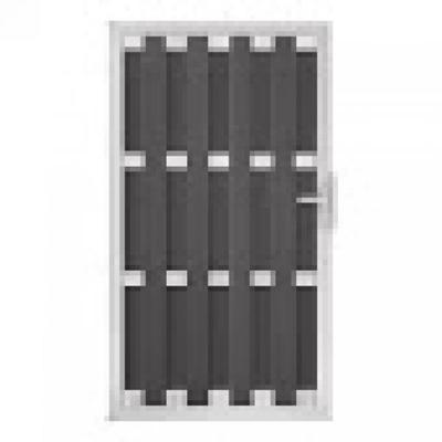 Panama rechtse deur in houtcomposiet 180 x 100 cm - Antraciet