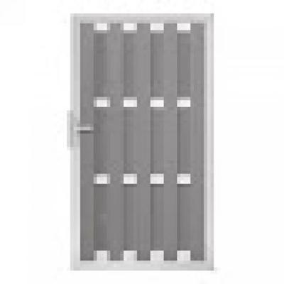 Panama linkse deur in houtcomposiet 180 x 100 cm - Lichtgrijs
