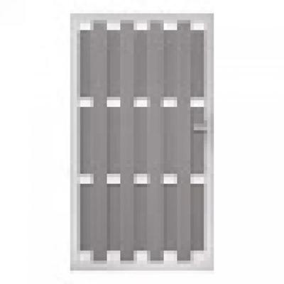Panama rechtse deur in houtcomposiet 180 x 100 cm - Lichtgrijs