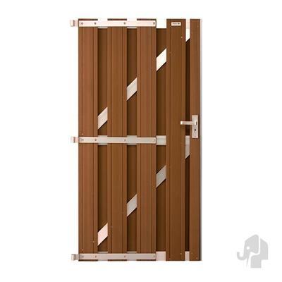 Panama linkse deur in houtcomposiet 180 x 100 cm - Bi-color wit