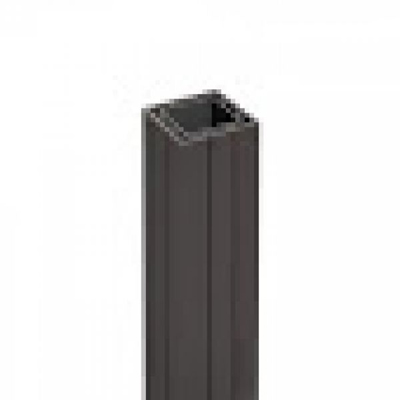 Paal in houtcomposiet 7 x 7 x 190 cm - Antraciet