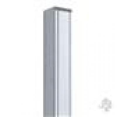 Paal in houtcomposiet 7 x 7 x 240 cm - Antraciet