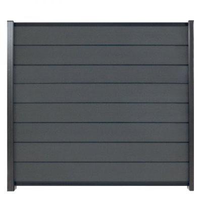 Modular scherm in houtcomposiet 174 x 180 cm