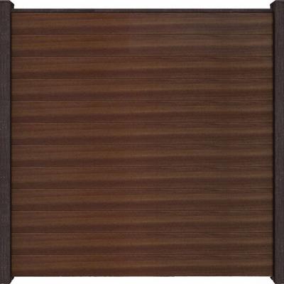 Solid scherm 1 - 180 x 180 cm - Notenbruin
