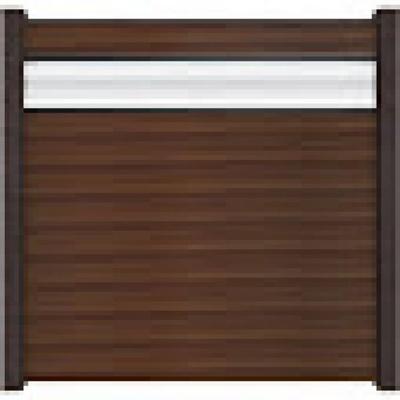 Solid scherm 2 - 180 x 180 cm - Notenbruin