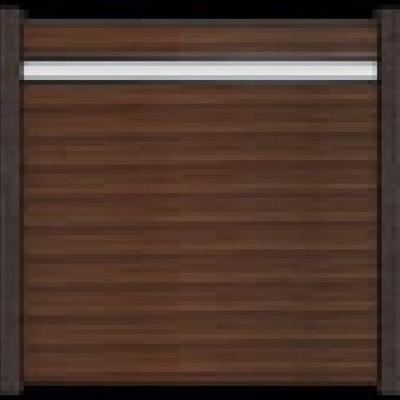 Solid scherm 3 - 180 x 180 cm - Notenbruin