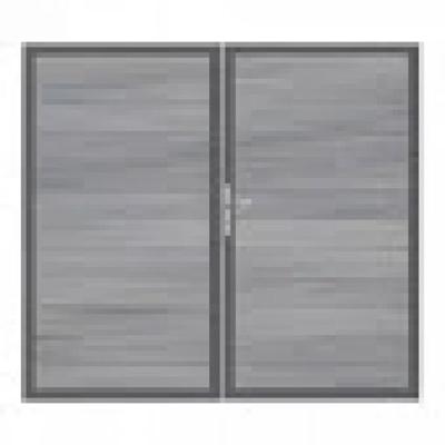Solid poort - 180 x 300 cm - Steengrijs - Antraciet kader