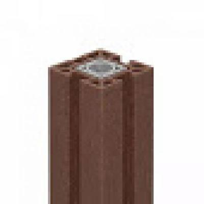 Deur-/poortpaal in houtcomposiet 10 x 10 x 240 cm - Terra