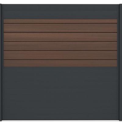 Combischerm 2 -180 x 180 cm - Fiberon Warm Sienna + antraciet