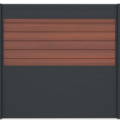 Combischerm 3 - 180 x 180 cm - Fiberon Cinnabar + antraciet
