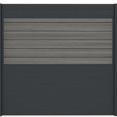 Combischerm 4 - 180 x 180 cm - Fiberon Castle Grey + antraciet