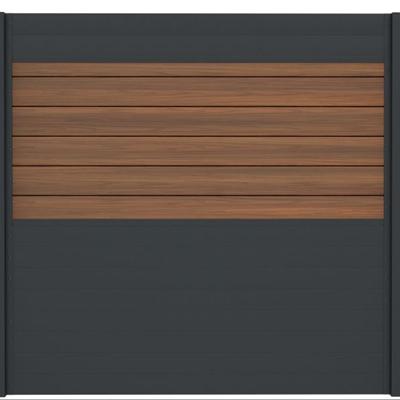 Combischerm 5 - 180 x 180 cm - Fiberon ipé + antraciet