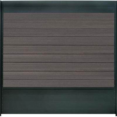 Combischerm 7 - 180 x 180 cm - Fiberon graphit + antraciet