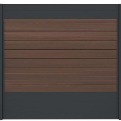 Combischerm 8 -180 x 180 cm - Fiberon Warm Sienna + antraciet