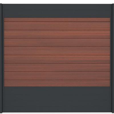 Combischerm 9 - 180 x 180 cm - Fiberon Cinnabar + antraciet