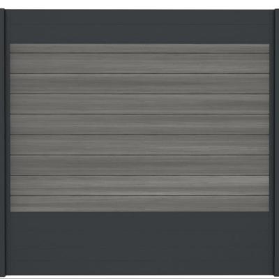 Combischerm 10 - 180 x 180 cm - Fiberon Castle Grey + antraciet