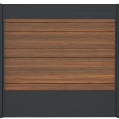 Combischerm 11 - 180 x 180 cm - Fiberon ipé + antraciet
