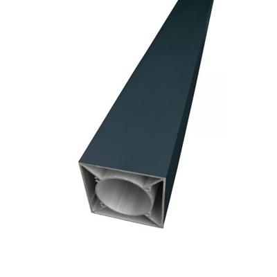 Aluminium paal 90 x 90 x 2002 mm - Antraciet grijs