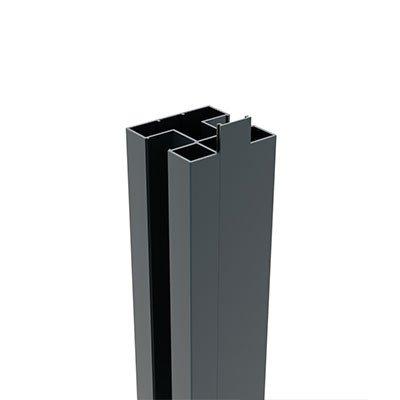 Aluminium paal 75 x 75 x 2500 mm