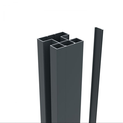 Aluminium paal 75 x 75 x 1240 mm