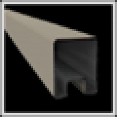 Topprofiel in aluminium 28 x 35 x 1800 mm - RAL7030