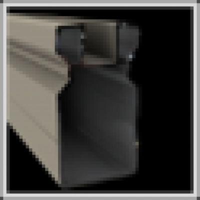 Deurpaal in aluminium 82 x 82 x 3000 mm - RAL7030