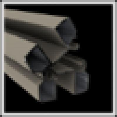 Aluminium scharnierpaal 82 x 82 x 3000 mm - RAL7030