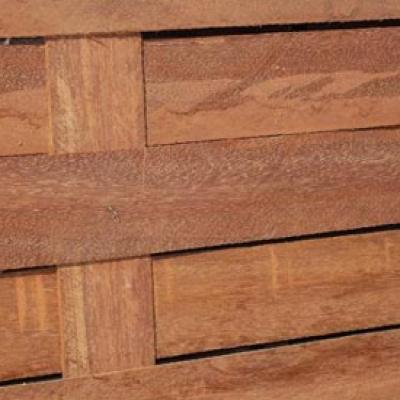 Panneau tressé en azobé 80 x 250 cm