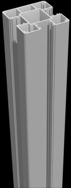 Poteau en aluminium 70 x 70 x 3000 mm - Gris argenté